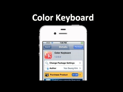 Change your iOS Keys? - Color Keyboard for iOS 6-8