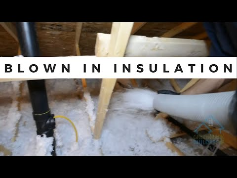 Properly installing blown insulation in your attic and Greengaurd Certified!