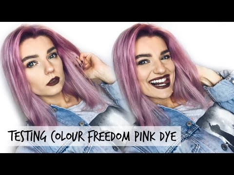 Testing Out Colour Freedom Pink Pizazz - Pink Hair | LoveFings