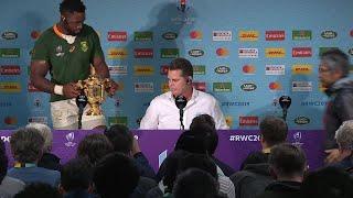 Erasmus & Kolisi speak after winning Rugby World Cup 2019