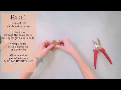 DIY Floral Hair Comb by Flower Moxie  ~SUPER FAST TUTORIAL