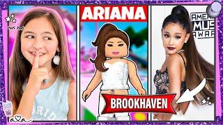 AVA spielt als ARIANA GRANDE in BROOKHAVEN Roblox🤩 KOMMEN VIELE FANs? 💜 Alles Ava Gaming