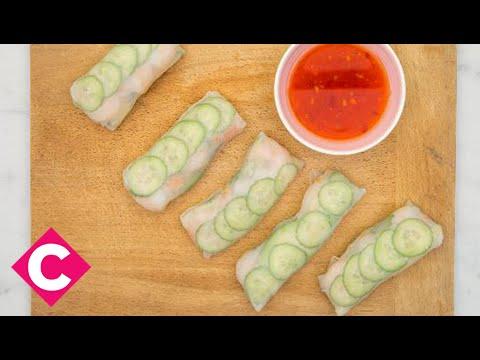 No-cook shrimp, mango and avocado rolls - Chatelaine Quickies