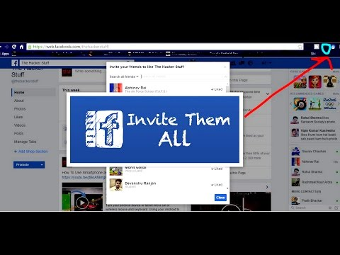 How to - Invite All Friends to Like Facebook Page in One Click 2017