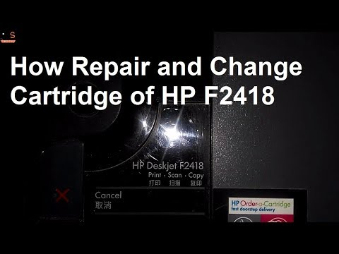[Hindi-हिन्दी] How to Repair and Change Cartridge of HP Deskjet F2418 (Part 2)