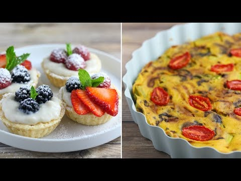 Tofu Quiche / Frittata , White Bean Blondies & Berry Tarts // Easy Vegan Baking (Gluten-Free)