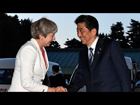 UK PM Theresa May arrives in Japan to soothe Brexit fears