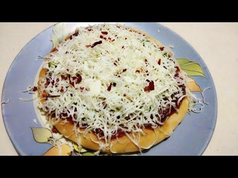 તવા પીઝા બનાવવાની રીત    tawa pizza in just 10 minutes