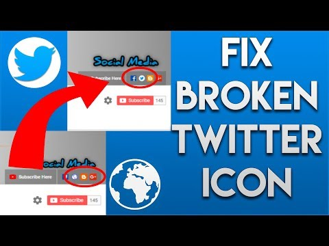 How To Fix The Twitter Icon on a YouTube Channel ✔