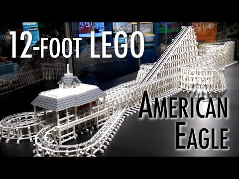Huge LEGO Six Flags American Eagle Roller Coaster | Museum of Science and Industry