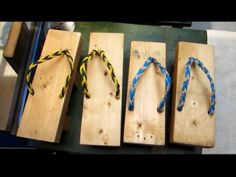 How to make Japanese Flip Flop Geta (out of Pallets) / upcycling