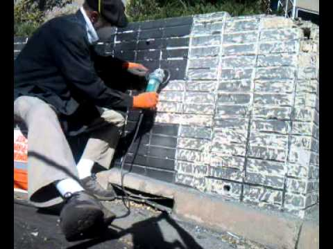 5300 grinding paint off brick