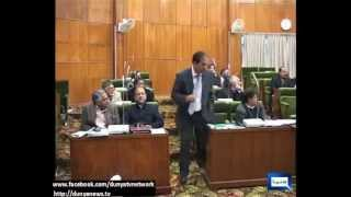Fight in AZAD KASHMIR ASSEMBLY (PPP vs PMLN ) Ch Tariq VS M Hussain Sargala