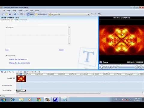 How to make a professional youtube intro With windows movie maker 2.6