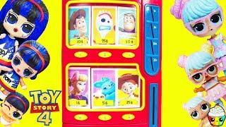 Download TOY STORY 4 Vending Machine LOL Surprise Hair Goals Wave 2 Families Pop Heart + Bon Bon Family Video
