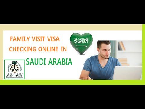 Family Visit Visa Checking Online In SaudiArabia