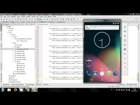 Develop TicTacToe game in Android Studio