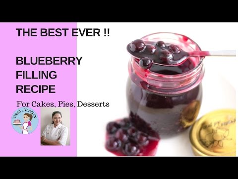 Blueberry Filling Recipe for Cakes Pies Desserts (THE BEST EVER!)