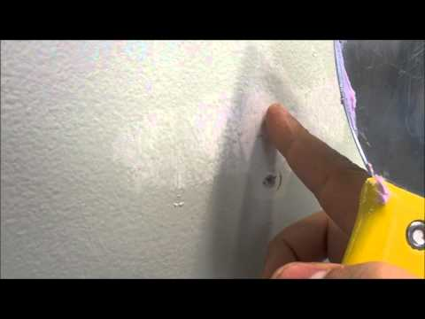 How To Fix A Small Hole In Drywall Or Plaster With Putty (Spackling Compound)