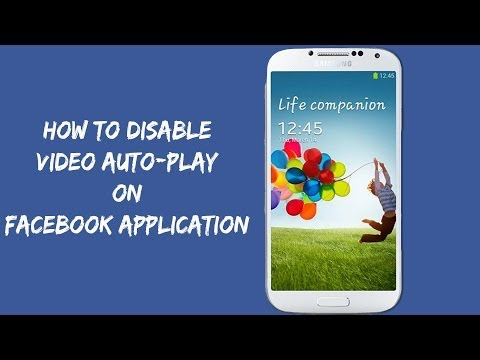 How to disable video auto-play on Facebook Application