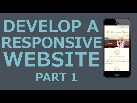 Develop A Responsive Website with HTML5, CSS3, jQuery  - Part 1 Introduction
