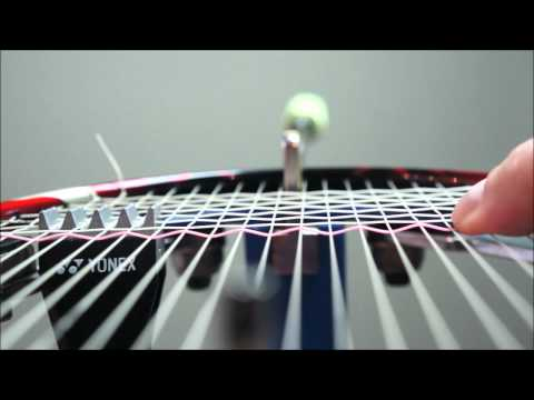 How to weave cross strings quickly - Hard and Soft Weave on a badminton racket - Badminton Stringing