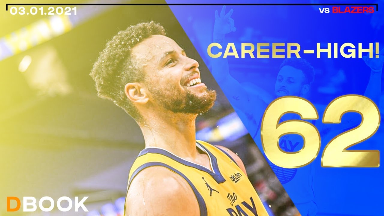 Stephen Curry 62 Points Career-High vs Blazers! ALL HIS BUCKETS! ● 03.01.2021 ● NBCSBA FEED ● 60 FPS