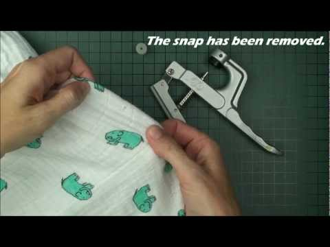 I Like Big Buttons! - How to remove plastic snaps using plastic snap pliers
