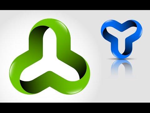 How to create 3D Logo Design in Adobe Illustrator CS5 | HD | OI