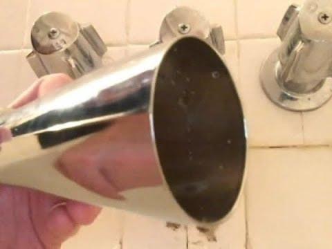 DIY REPLACE a Twist-OFF BATHTUB SPOUT/ FAUCET  by DANCO