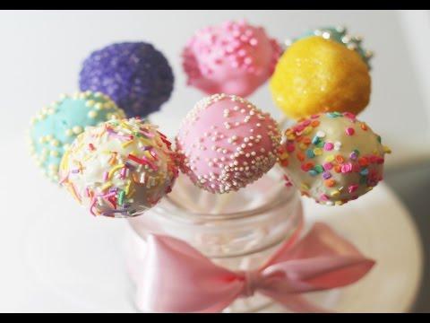 LAS CAKE POPS MÁS FÁCILES DEL MUNDO | SIN HORNO (Cake Pops Tutorial)