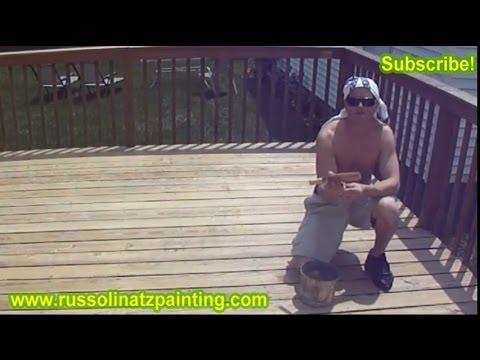 DIY Stripping, Sanding, & Staining Deck (Part 4)- Benjamin Moore Arbor Coat Deck Stain