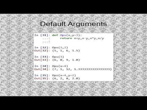 Tutorial 13. Python Functions