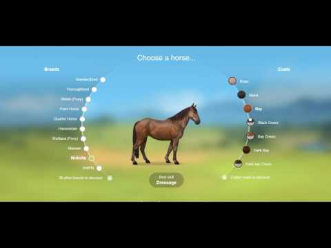 Signing up on Howrse: Choosing your horse and Username