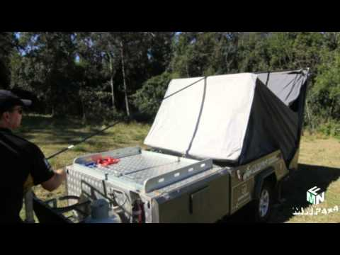 Camper Trailer Hire, Rear Fold Hard floor