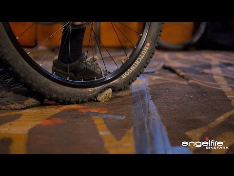 Gravity Garage | How to adjust your downhill mtb's tire pressure | Angel Fire Bike Park