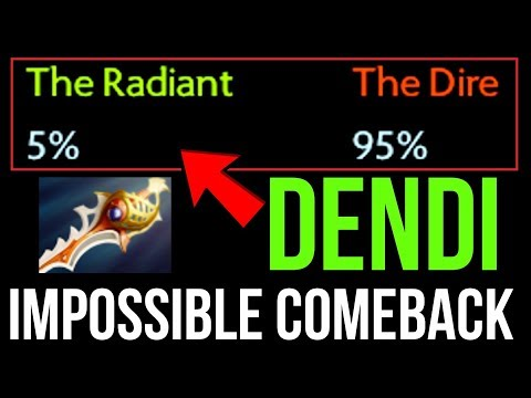 DOTA PLUS only shows 5% winrate, but DENDI tell us Nothing is Impossible
