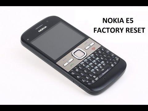 Nokia E5 factory reset