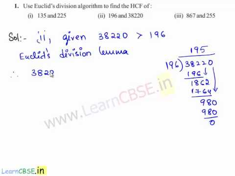 Euclid's division algorithm to find the HCF | Funndamental Theorem Of Arithmetic
