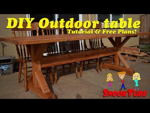 Outdoor table tutorial