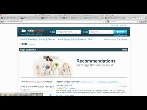 Insider Pages--How to List Your Business-Local Search Optimization Tutorial Video