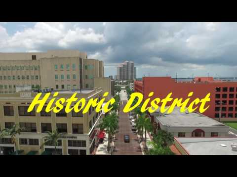 Fort Myers Florida Downtown Drone DJI Drone Video Johnny J