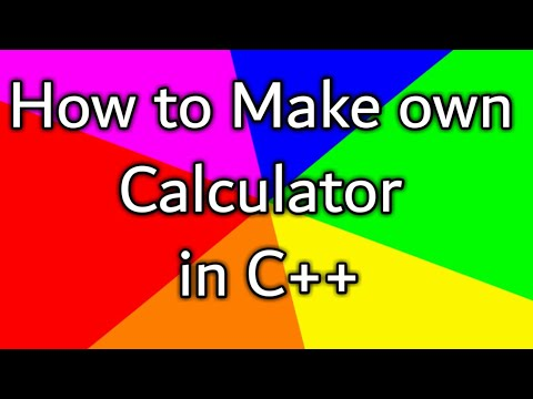 How to make calculator ?in C++