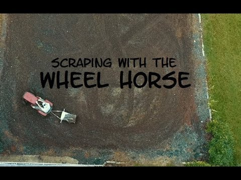 Removing Weeds with the Wheel Horse