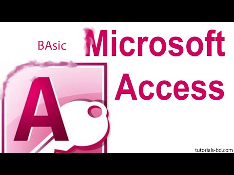 Microsoft Access Basic Tutorial ( in Bangla )