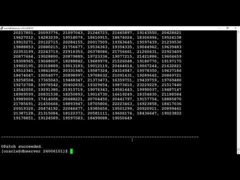 Applying PSU patch on 12c database