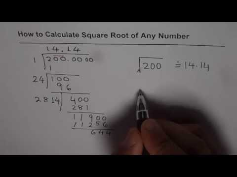 How to Calculate Square Root Without Calculator