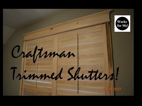 Plantation Shutter Craftsman Style Trim
