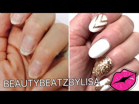 HOW TO APPLY FAKE NAILS   DIY EASY TUTORIAL -beautybeatzbylisa
