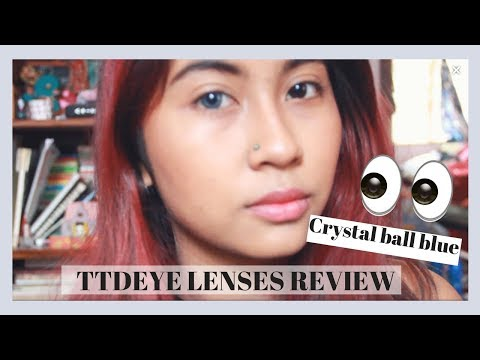 Ttdeye lens review and try on // ttdeye crystal ball blue 👀